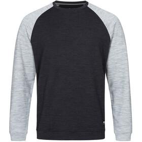 super.natural Signature Contrast Crew Shirt Men jet black melange/ash melange/fresh white back